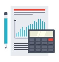 Financial Report Concept vector image