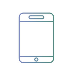line smartphone technology to call and talk vector image vector image