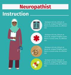 Medical equipment instruction for neuropathist vector
