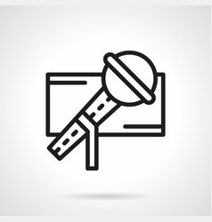 stage microphone simple line icon vector image