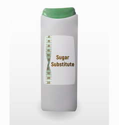 A sugar substitute sweetener in vector