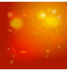 Abstract background orange red card Merry vector
