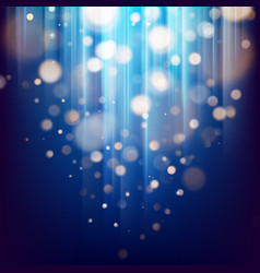 Abstract bokeh background of golden light with vector