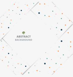 abstract of colorful dot on white paper cut vector image