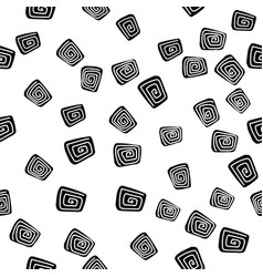 Abstract rectangle doodle pattern vector