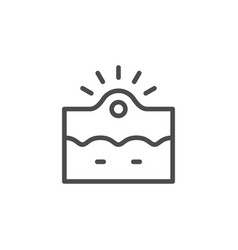 Acne inflammation line outline icon vector