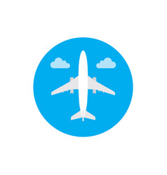 airplane - concept icon in flat graphic design vector image