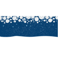 blue new years christmas background with white vector image