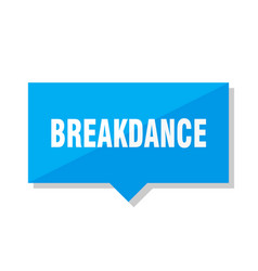 breakdance price tag vector image