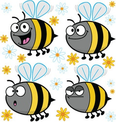 Cartoon Bees - Assorted vector image