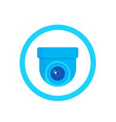 Cctv camera icon on white vector