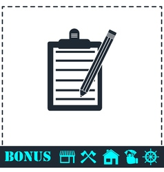 Checklist icon flat vector