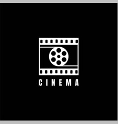 Cinema filmstrip film stripes reel movie vector