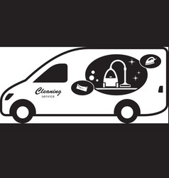 cleaning service van vector image