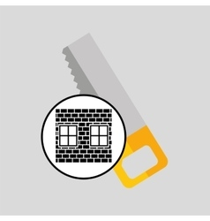 construction brick saw icon graphic vector image