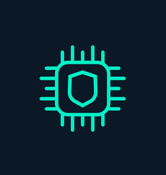 Cryptography icon linear vector