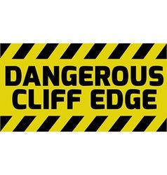 Dangerous cliff edge sign vector