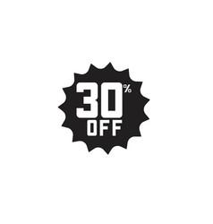 Discount 30 off label template design vector
