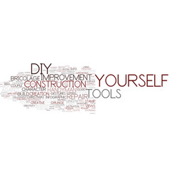 Do-it-yourself word cloud concept vector