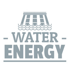 Drop water energy logo simple gray style vector