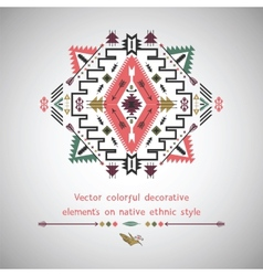 Elements on native ethnic style vector