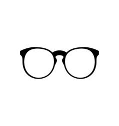 Eyeglasses icon simple vector