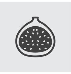 fig icon vector image