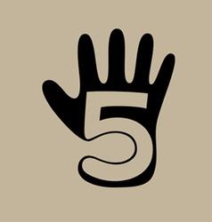Five finger logo vector