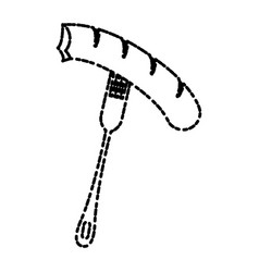 fork with sausage vector image