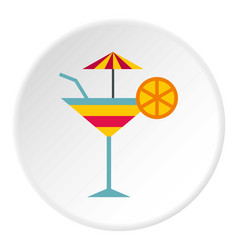 fruit cocktail icon circle vector image