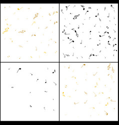 gold notes confetti celebration falling black and vector image