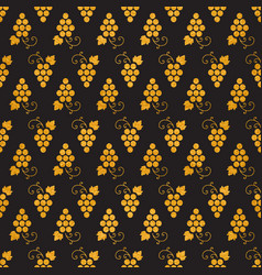 Golg textured seamless pattern of grapes vector