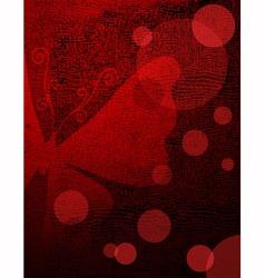 Grunge red-black frame vector image