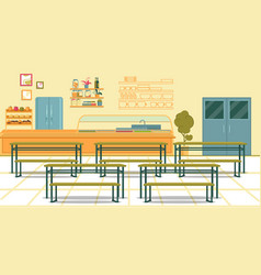 Healthy canteen intended for high school students vector