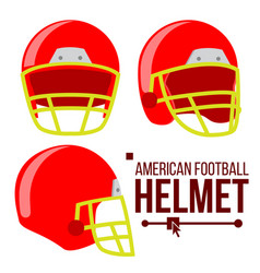 Helmet american football classic red rugby vector