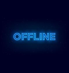 hologram offline twitch banner glowing offline vector image