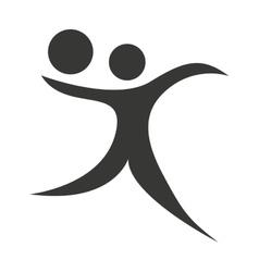 Human figure silhouette sporter athlete icon vector