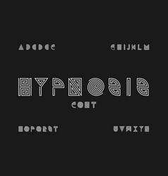Hypnosis font alphabet l vector