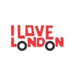 I love london t-shirt design logo graphic vector