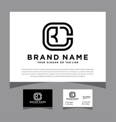 Initial cr logo design for various business vector