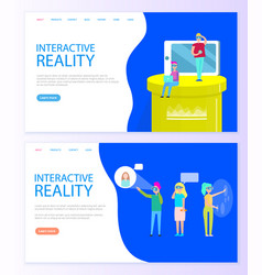 interactive reality new technologies advancement vector image