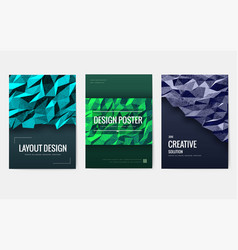 invitations in a modern style for business flyers vector image