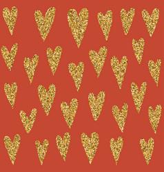 Jewelry gold glitter pattern of love heart symbol vector