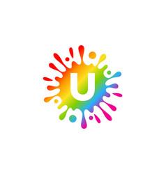Letter splash logo icon design vector