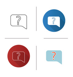 Live help chat icon vector