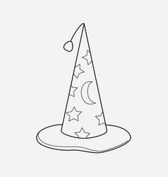 magicians cap icon line element vector image