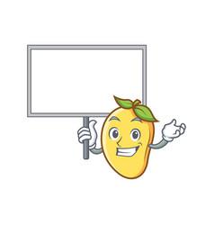 mango character cartoon mascot bring board vector image