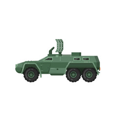 modern armored vehicle isolated icon vector image