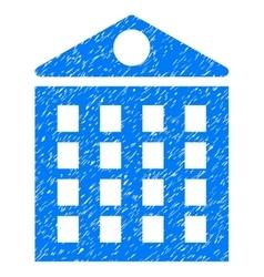 Multi-Storey House Grainy Texture Icon vector