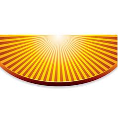 Orange background with sunrise vector